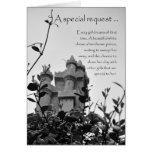 Matron of Honour Fairy Tale Castle Request Card