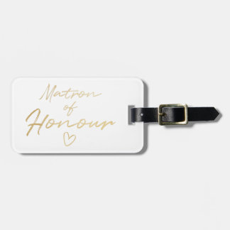 Matron of Honour - Gold faux foil Luggage Tag