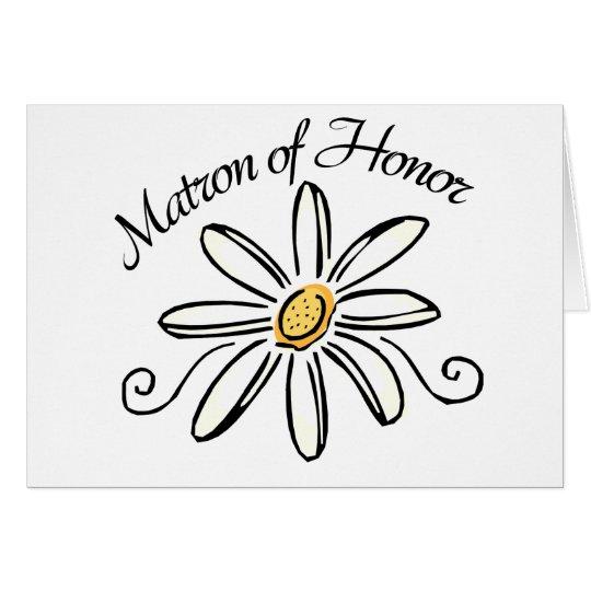 Matron of Honour Greeting Card
