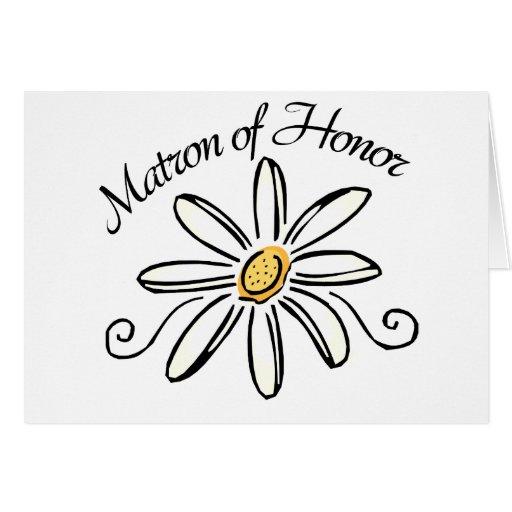 Matron of Honour Greeting Cards