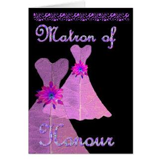 MATRON OF HONOUR  Invitation PURPLE Gown