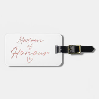 Matron of Honour - Rose Gold faux foil Luggage Tag