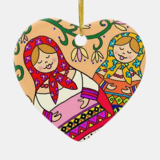 Matroshka Christmas Ornaments