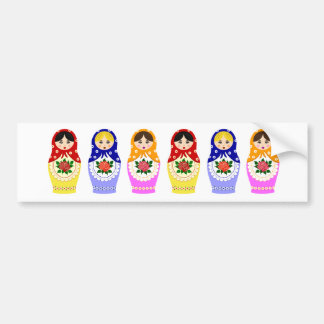 Matryoschka dolls bumper sticker