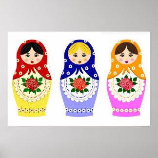 Matryoschka dolls poster