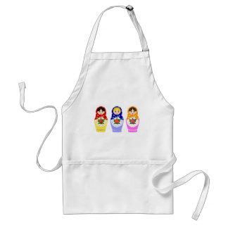 Matryoschka dolls standard apron