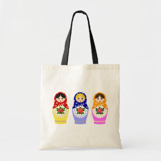 Matryoschka dolls tote bag