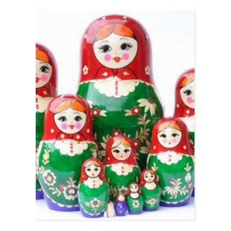 Matryoshka - матрёшка (Russian Dolls) Postcard