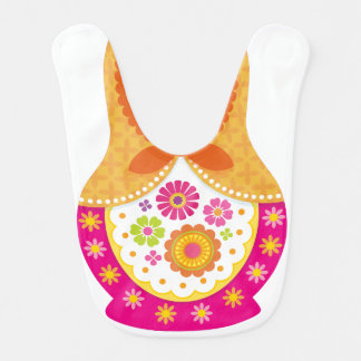 Matryoshka Bib - Orange and Pink
