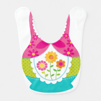 Matryoshka Bib - Pink and Teal