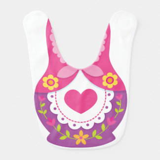 Matryoshka Bib - Purple and Pink