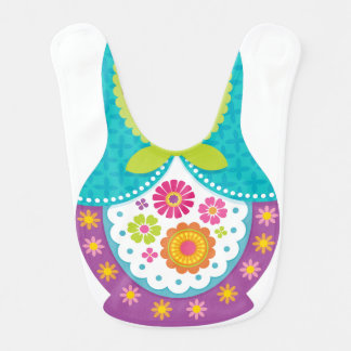 Matryoshka Bib - Purple and Teal