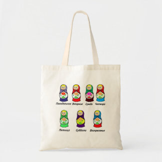 Matryoshka Days of the Week Tote Bag