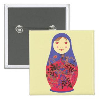 Matryoshka Doll 2 ~ Russian / Babushka Nesting 15 Cm Square Badge