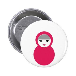 Matryoshka doll 6 cm round badge