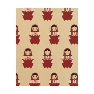 Matryoshka Doll Pattern Wood Print