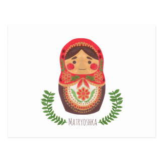 Matryoshka Doll Postcard