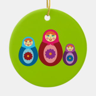 Matryoshka Dolls Christmas Ornament