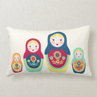 Matryoshka Dolls Lumbar Cushion