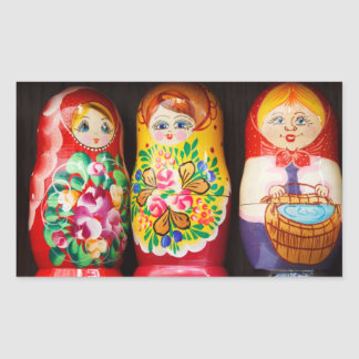 Matryoshka Dolls Rectangular Sticker