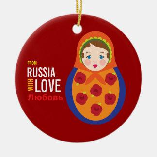 Matryoshka From Russia With Love Adoption Keepsake Christmas Ornament
