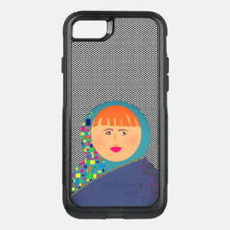 Matryoshka Russian Doll  Modern Hipster Polka Dots OtterBox Commuter iPhone 8/7 Case