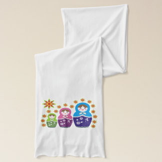 Matryoshka Russian dolls & sunflowers custom Scarf