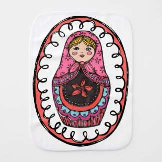 Matryoshka, Russian Nesting Doll Burb Cloth Baby Burp Cloths