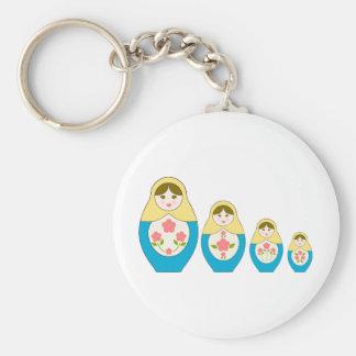 Matryoshka Russian Nesting Dolls Key Ring