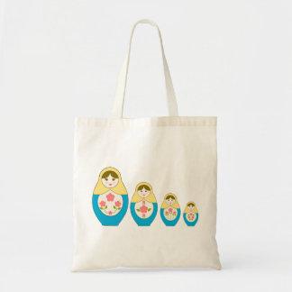 Matryoshka Russian Nesting Dolls Tote Bag