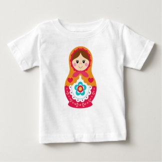 Matryoshka Tshirt - Red and Orange