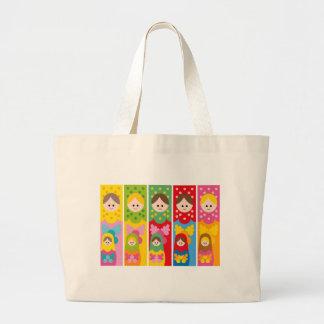 MatryoshkaBookmark Large Tote Bag