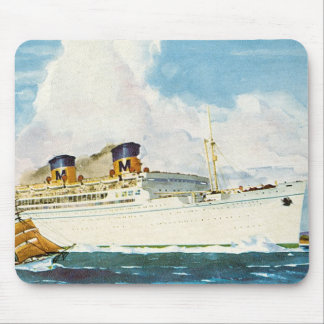Matson Liner to Hawaii Mouse Mat