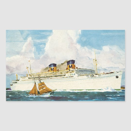 Matson Liner to Hawaii Rectangular Sticker