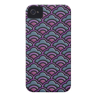 Matsukata waves japanese textile pattern iPhone 4 case
