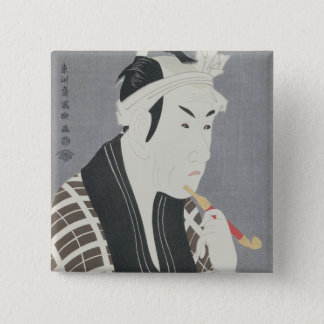 Matsumo Koshiro IV in the Role of Gorebei 15 Cm Square Badge