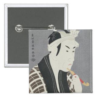 Matsumo Koshiro IV in the Role of Gorebei 15 Cm Square Badge