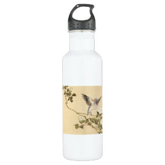 Matsumoto Keibun Bird and Flower Album Zebra Finch 710 Ml Water Bottle