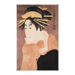 Matsumoto Yonesaburo in the role of the courtesan Stretched Canvas Print