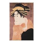 Matsumoto Yonesaburo in the role of the courtesan Gallery Wrap Canvas