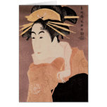 Matsumoto Yonesaburo in the role of the courtesan Greeting Cards