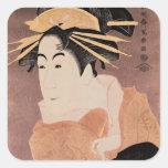 Matsumoto Yonesaburo in the role of the courtesan Square Sticker