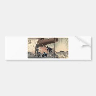Matsushima Gun firing c. 1894. Japan. Bumper Sticker