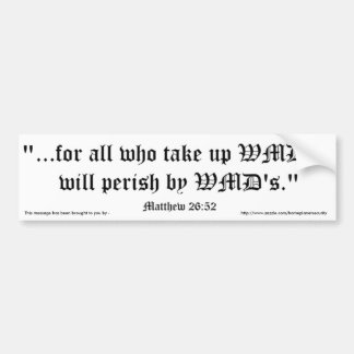 Matt 26:52 bumper sticker