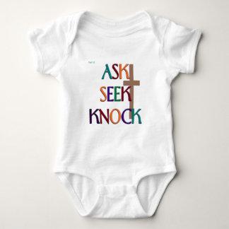 Matt 7:7 customizable christian gift t-shirt