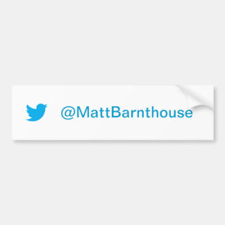 Matt Barnthouse Twitter Bumper Sticker