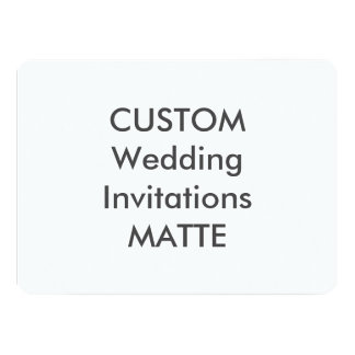 "MATTE 120lb 7.5"" x 5.5"" Wedding Invitations"