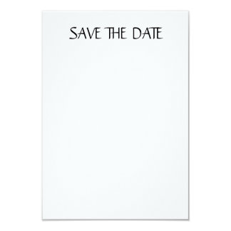 "Matte 3.5"" x 5"", white envelopes included SAVEDATE Card"