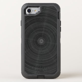 Matte Black Circle Steel Shatter OtterBox Defender iPhone 8/7 Case