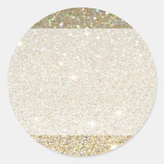 Matte sparkle gold invite for any occasion classic round sticker